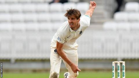 Middlesex bowler Steven Finn.