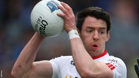 Mattie Donnelly won a first Tyrone Senior Football Championship medal with his club Trillick in 2015
