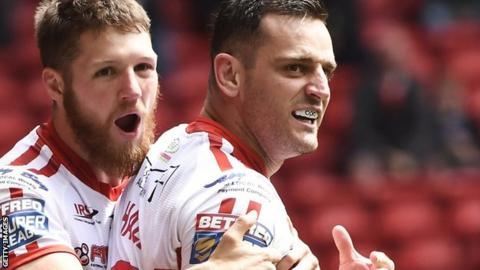 Hull KR celebrate a try