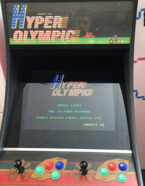 Hyper Olympic arcade machine