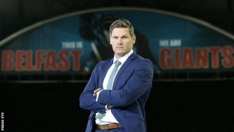 Adam Keefe was Belfast Giants captain before being appointed as coach last summer