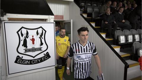 Elgin City players