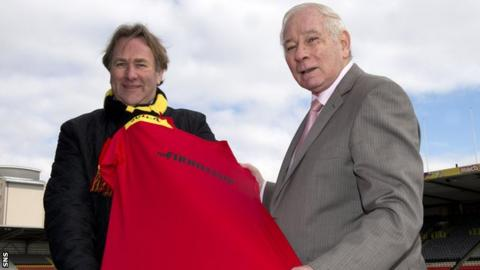 Former Partick Thistle goalkeeper Alan Rough and Dave McParland