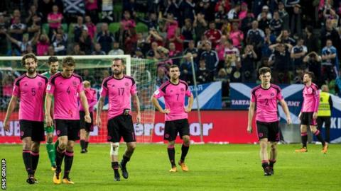 Scotland needed a win in Slovenia to guarantee a World Cup play-off place