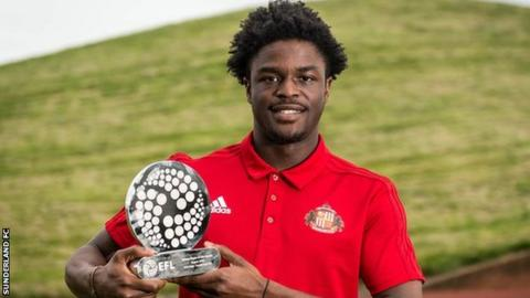 Sunderland Josh Maja League One Young Player of the Month