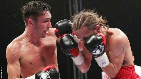 Jamie Conlan lands a punch during his victory over David Koos in November