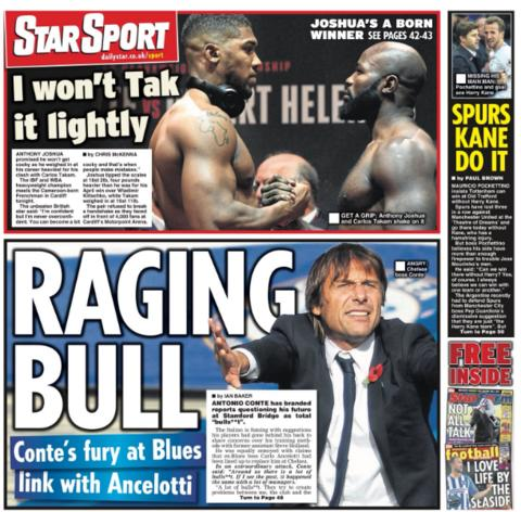 The Daily Star back page on Saturday