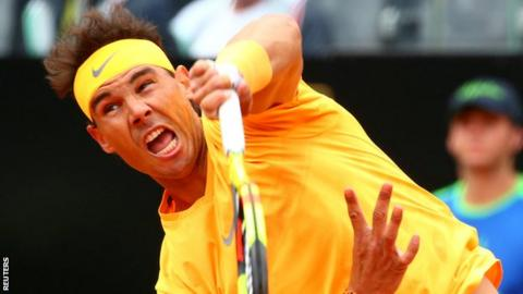 Ruthless Nadal advances, Thiem stung by Fognini