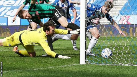 Wigan striker Conor McAleny
