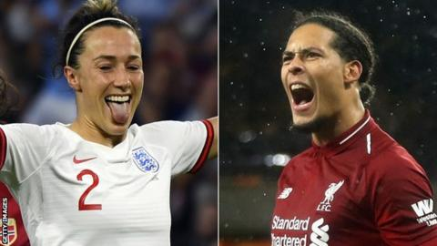 Lucy Bronze and Virgil van Dijk