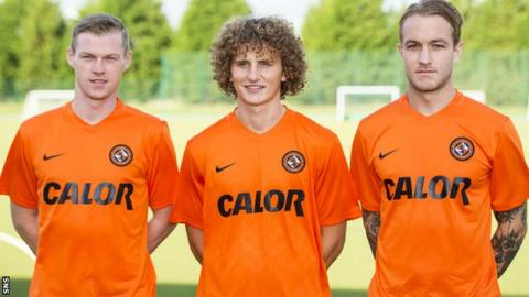 Billy McKay (left), Aaron Kuhl (centre) and Adam Taggart have bolstered Dundee United's squad