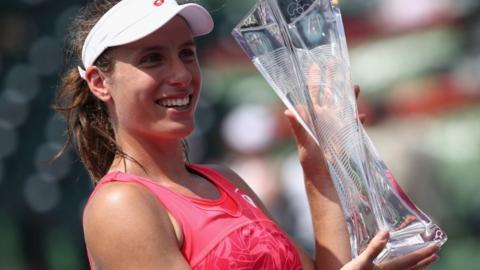 Johanna Konta wins Miami title