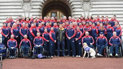The GB Invictus Games team with Prince Harry
