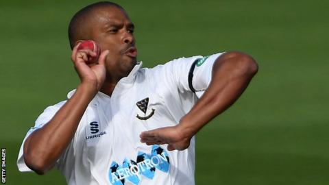 Vernon Philander playing for Sussex