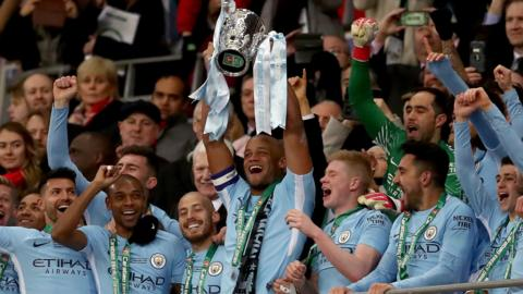 Man City lifting Carabao Cup