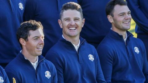 Rory McIlroy, Justin Rose and Martin Kaymer
