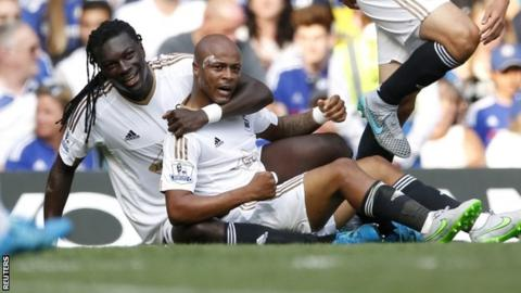 Swansea duo Bafetimbi Gomis and Andre Ayew