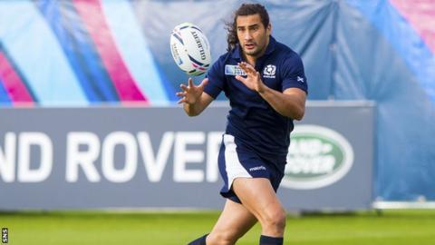 Blair Cowan in training for Scotland