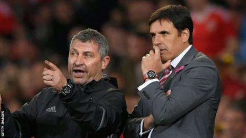 Osian Roberts and Chris Coleman