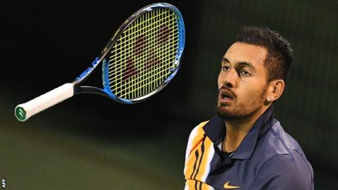 Nick Kyrgios during his Shanghai Masters exit