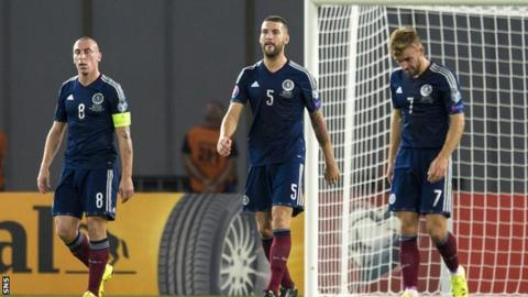 Scotland players in Georgia