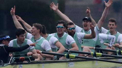 Cambridge win the Boat Race