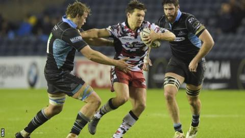 Michael Allen in possession for Edinburgh