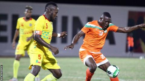Benin and Niger in action at the WAFU Cup of Nation