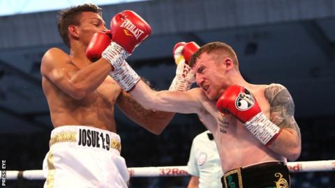 Brutal body shot ends Barnes' World Title bid