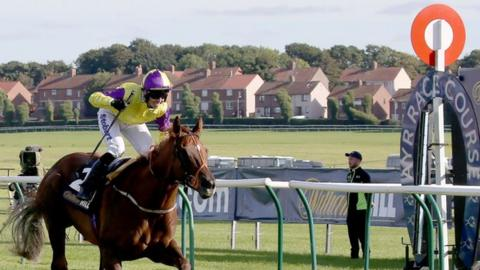 Action at Ayr Racecourse