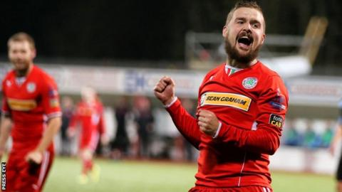 Tiarnan Mulvenna rarely featured for Cliftonville during his brief spell at Solitude