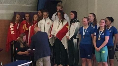 Guernsey women's 4x50m gold
