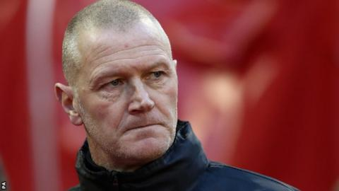 Sheffield Wednesday interim boss Lee Bullen at the City Ground