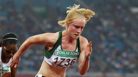 Amy Foster in action for the Northern Ireland at the Commonwealth Games in Delhi in 2010