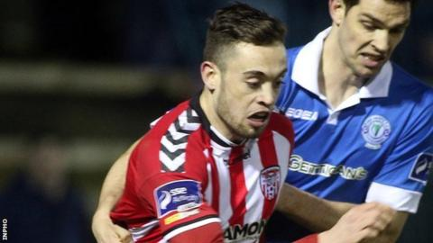 Derry City striker Nathan Boyle