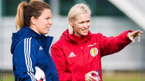 Rachel Corsie and Shelley Kerr (right)