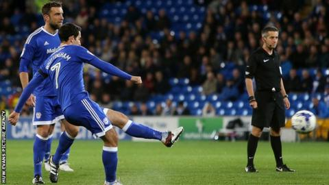 Peter Whittingham scores for Cardiff City
