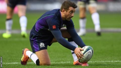 Greig Laidlaw kicked five conversions in last weekend's rout of Fiji at Murrayfield