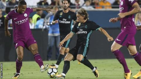 Manchester City Thrash Real Madrid 4 1 In Los Angeles But Mendy