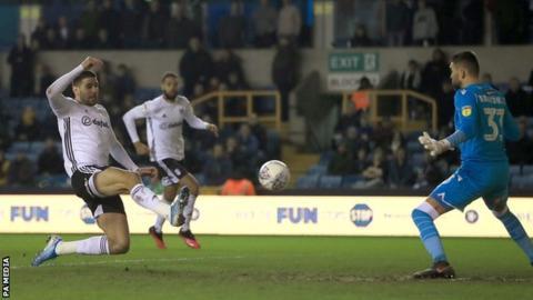 Aleksandar Mitrovic scores for Fulham
