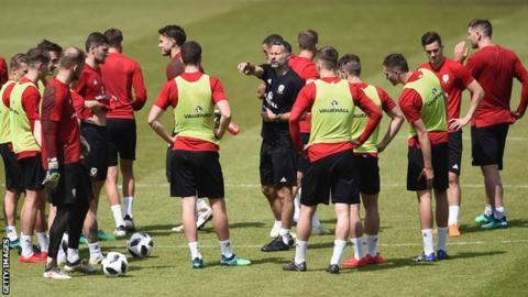 Wales' training sessions in Pasadena had a youthful look under manager Ryan Giggs