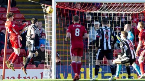 Aberdeen's Ryan Christie scores against St Mirren