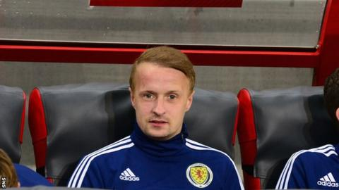 Leigh Griffiths on the Scotland bench