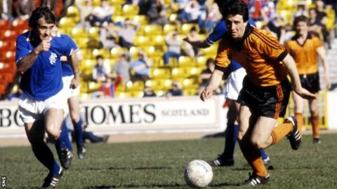 Ralph Milne (right) made 286 appearances for Dundee United
