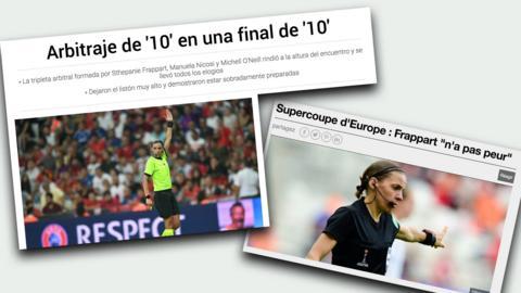 Media across Europe praise referee's performance