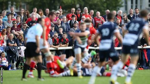 London Welsh playing at Old Deer Park