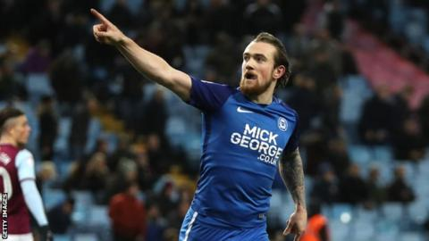 Jack Marriott celebrates scoring against Aston Villa in the FA Cup