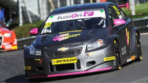 Chris Smiley in action at Brands Hatch