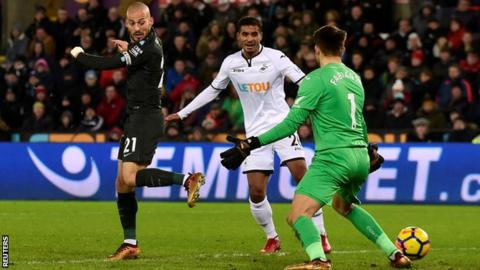 David Silva's back-heel set Manchester City on their way to victory at Swansea