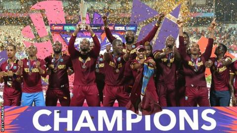 india West Indies celebrate winning the 2016 T20 World Cup